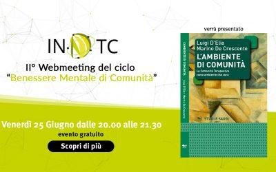 II° Webmeeting del ciclo Il benessere mentale di comunità